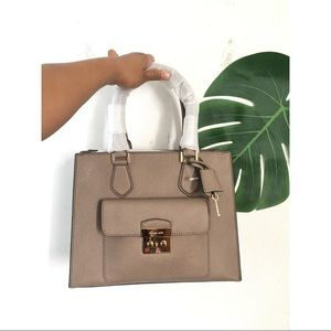 Michael Kors Hans bag beige gray square shape